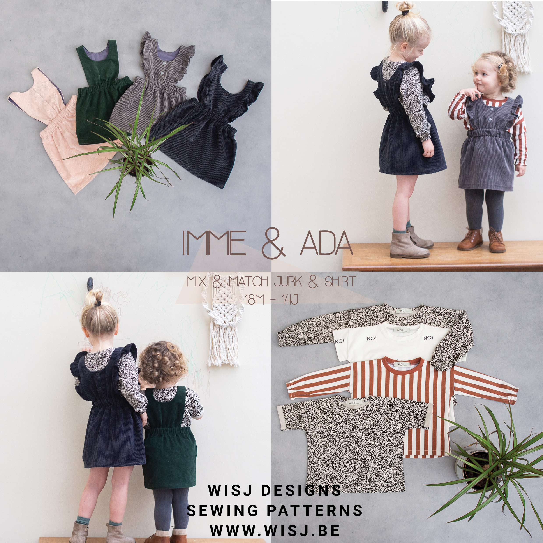 Imme Jurk Ada Shirt Pdf Naaipatroon Nederlands Wisj Designs