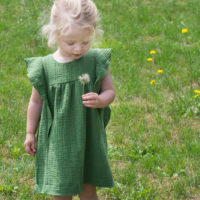 Double love for green double gauze + mini beleg tutorial